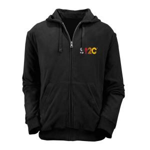 SU2C Distressed Short Logo Zip Hoodie