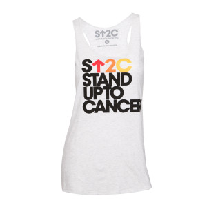 SU2C Women's Stacked Logo Tank Top, White - Large