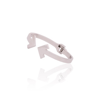 SU2C Devon Leigh Silver Plated Arrow Bangle