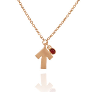 SU2C Carolee Gold Tone Arrow Pendant Neckalce