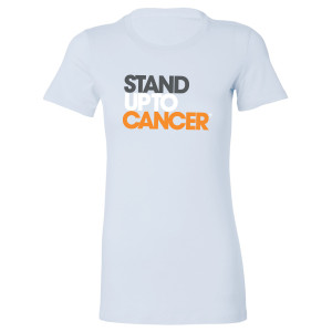 SU2C Women's Full Logo Boyfriend T-shirt, Baby Blue