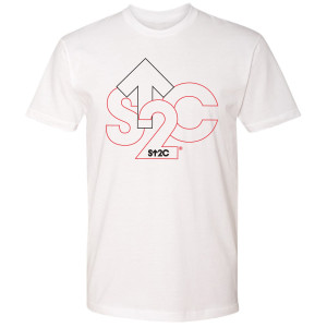 SU2C Men's Outline Logo T-Shirt, White
