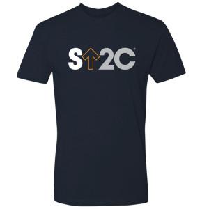 SU2C Men's Short Logo T-Shirt, Midnight Navy - Small