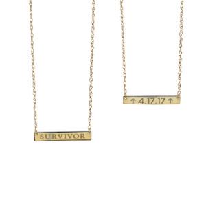 Survivor's Badge 14-Karat Gold Personalized Necklace