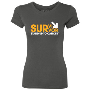SU2C Survivor Arrow Womens Crew, Dark Grey