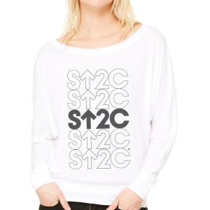 SU2C Short Repeated Stack Mono Flowy Long Sleeve T-Shirt