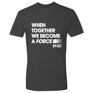 SU2C Men's Become a Force T-Shirt, Heavy Metal