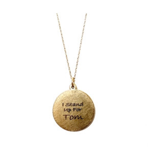 Golden Thread Circle of Strength Personalized Pendant Necklace, Gold
