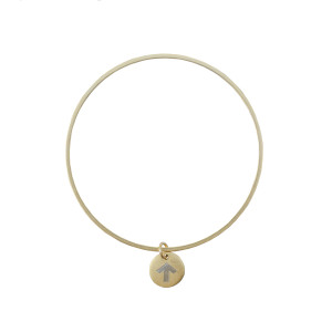 Golden Thread Heroic Strength Personalized Bangle