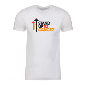 SU2C Men's Full Logo Short Sleeve T-Shirt, White