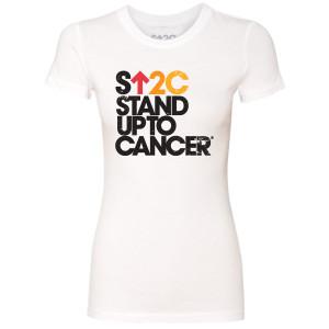 SU2C Women's Stacked Logo T-Shirt, White