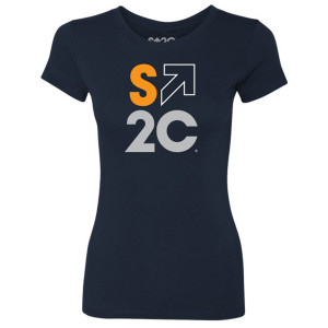 SU2C Women's Quad Logo T-Shirt, Midnight Navy