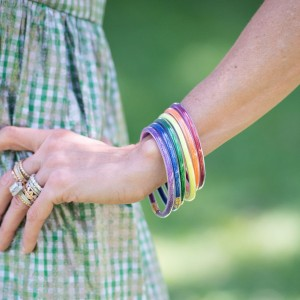 Pride Rainbow Bangles Set