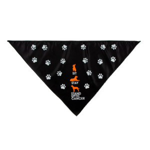 SU2C Sit Stay Stand Dog Bandana