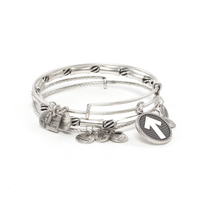 SU2C Triple Silver Bangle Arrow Bracelet by Alex & Ani