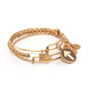 SU2C Stand Up, Stand Out Set of 3 Gold Bracelets by ALEX AND ANI