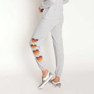 Stand Up to Cancer Repeated Heart Band Pants