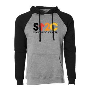 SU2C Short Logo Raglan Pullover Hoodie