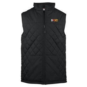 SU2C Short Logo Quilted Vest