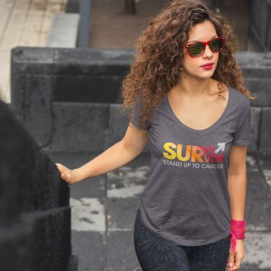 SU2C Survivor Sunrise Women's Slouchy T-shirt