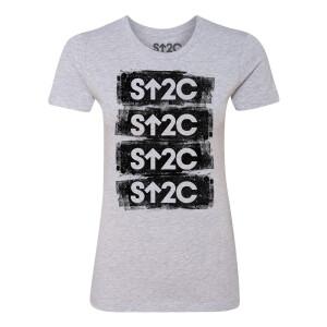 SU2C Short Logo Stacked Distressed Women's T-shirt