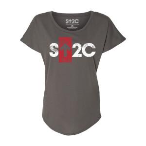 SU2C Short Logo Boxed Arrow Women's Dolman T-shirt