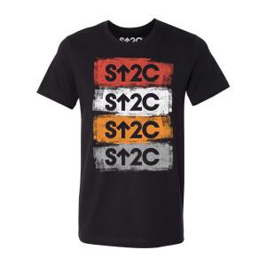 SU2C Short Logo Stacked Distressed T-shirt