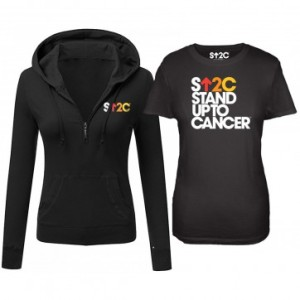 SU2C Women's Short Logo Hooded Half Zip Pullover Bundle