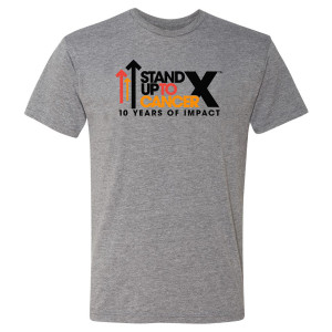 SU2C 10th Year Logo T-Shirt, Heather Grey