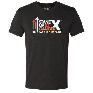 SU2C 10th Year Logo Triblend T-Shirt, Vintage Black