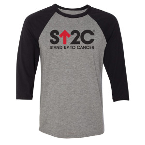 SU2C Short Logo Unisex Raglan (Black/Grey)