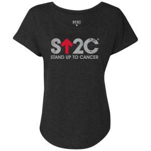 SU2C Distressed Short Logo Women's Dolman T-Shirt