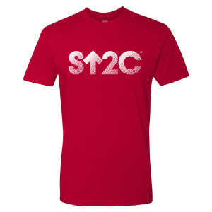 SU2C Short Logo Gradient T-Shirt (Red)