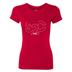 SU2C Outline Logo Women's T-Shirt (Red)