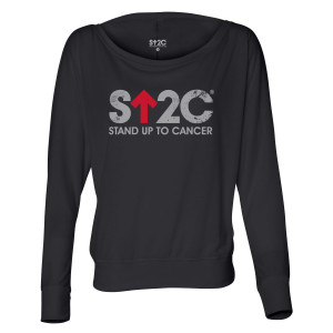 SU2C Distressed Short Logo Women's Flowy Long Sleeve
