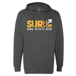SU2C Survivor Pullover Hoodie (Charcoal)