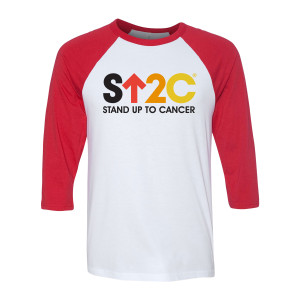 SU2C Short Logo Raglan (Red/White)