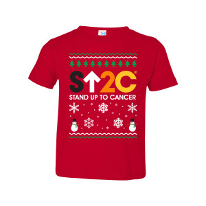 SU2C Short Logo Holiday Toddler T-Shirt (Red)