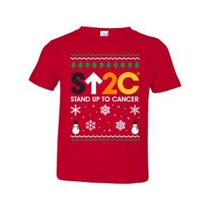 SU2C Short Logo Holiday Toddler T-Shirt (Red)