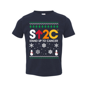 SU2C Short Logo Holiday Toddler T-Shirt (Navy)