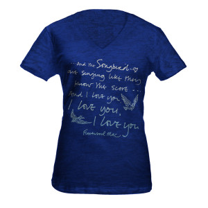 Fleetwood Mac Songbird Lyric Tee