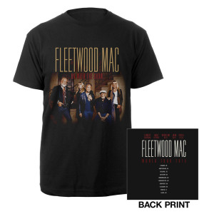 Fleetwood Mac 2015 On With The Show Tour/Itin Black T-shirt