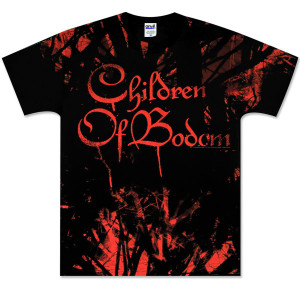 Children of Bodom Red Allover T-Shirt Black