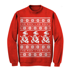 Kid Rock Guns Holiday Sweatshirt Red