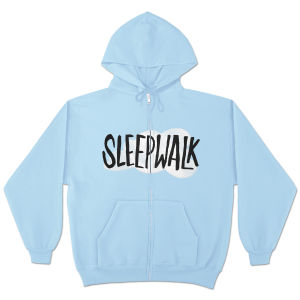 Mike Birbiglia Sleepwalk Zip Hoodie - Light Blue