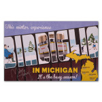 Mike Birbiglia 2014 Michigan Winter Tour Poster - Signed