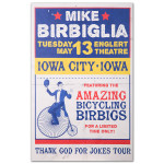 Mike Birbiglia Bicycling Birbigs Poster - Iowa City, IA 5/13/14
