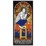 Mike Birbiglia Stained Glass Poster - St. Petersburg, FL 11/21/2014