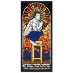 Mike Birbiglia Stained Glass Poster - Orlando, FL 11/18/2014