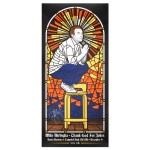 Mike Birbiglia Stained Glass Poster - Santa Barbara, CA 12/4/14 - Signed